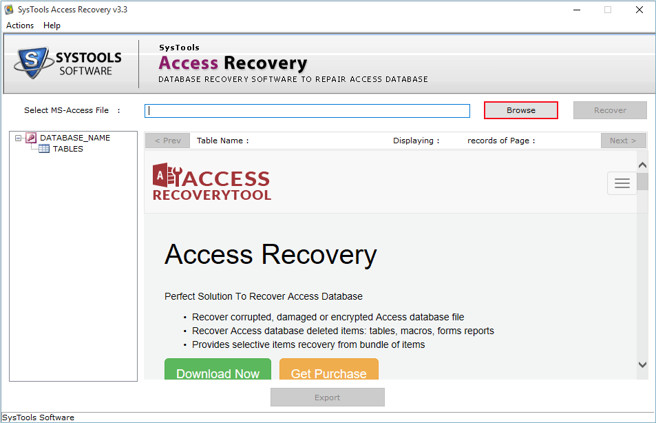 browse access file
